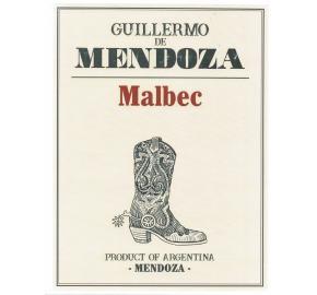 Guillermo de Mendoza - Malbec label