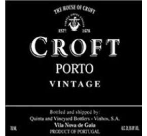 Croft - Vintage Port label