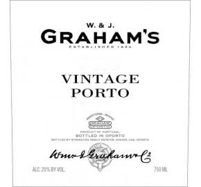 Graham's - Vintage Port label